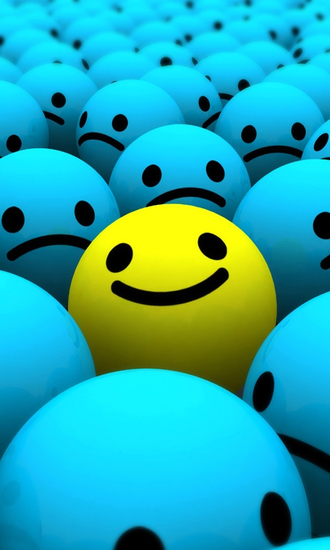 Funny Smiley Ball Mobile Phone Wallpapers 480x800 Mobile Phone 480x800