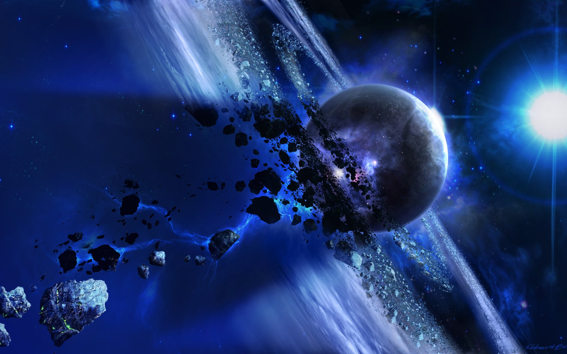 Amazing space 3D Art Wallpaper HD 2014 for iPhone Android Desktop 1920x1200