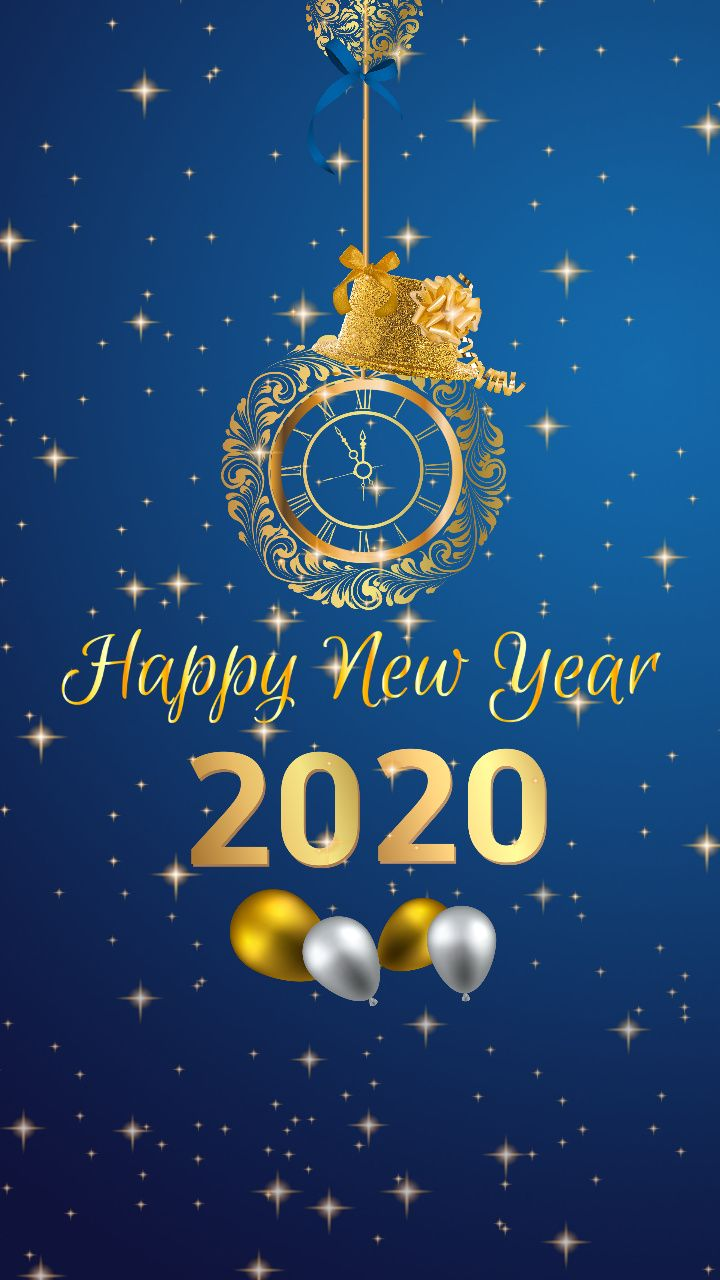 Download Happy new year 2020 Mobile Wallpaper for your Android 720x1280