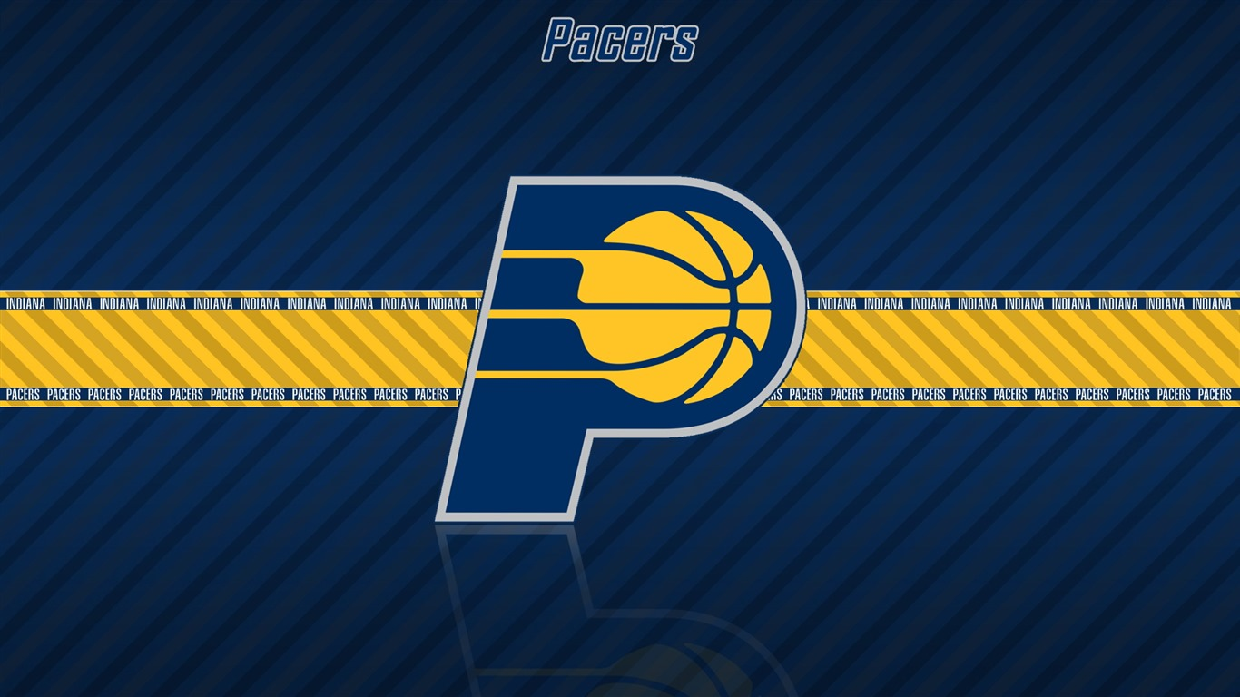 NBA Indiana Pacers team logo widescreen HD wallpaper   1366x768 1366x768
