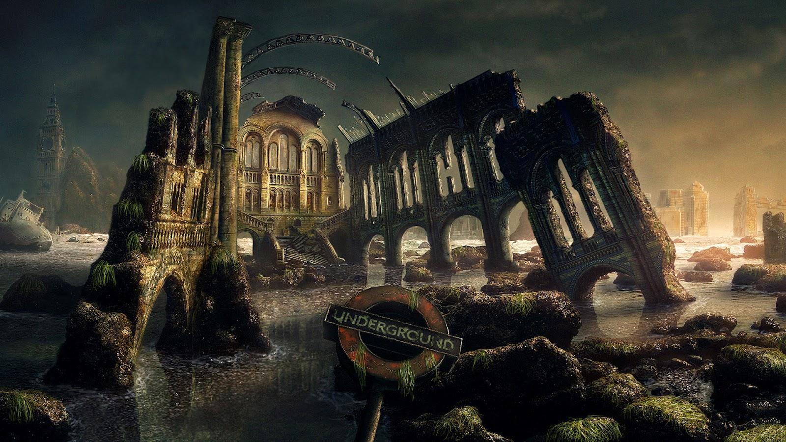 gears of war map scene wallpaper background 2 scenery landscape epic 1600x900