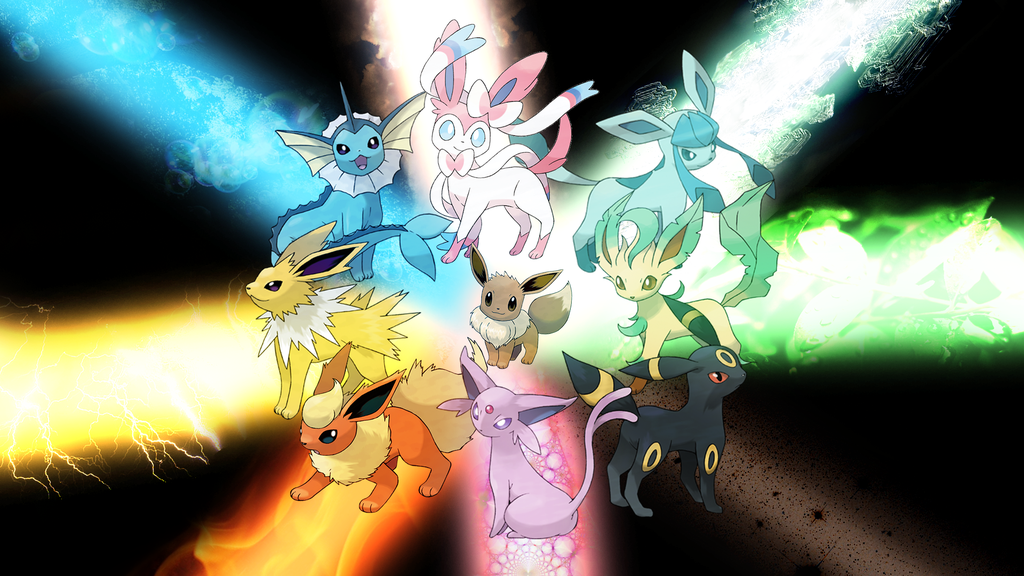 Eevee lution Explosion by CandleJumper 1024x576