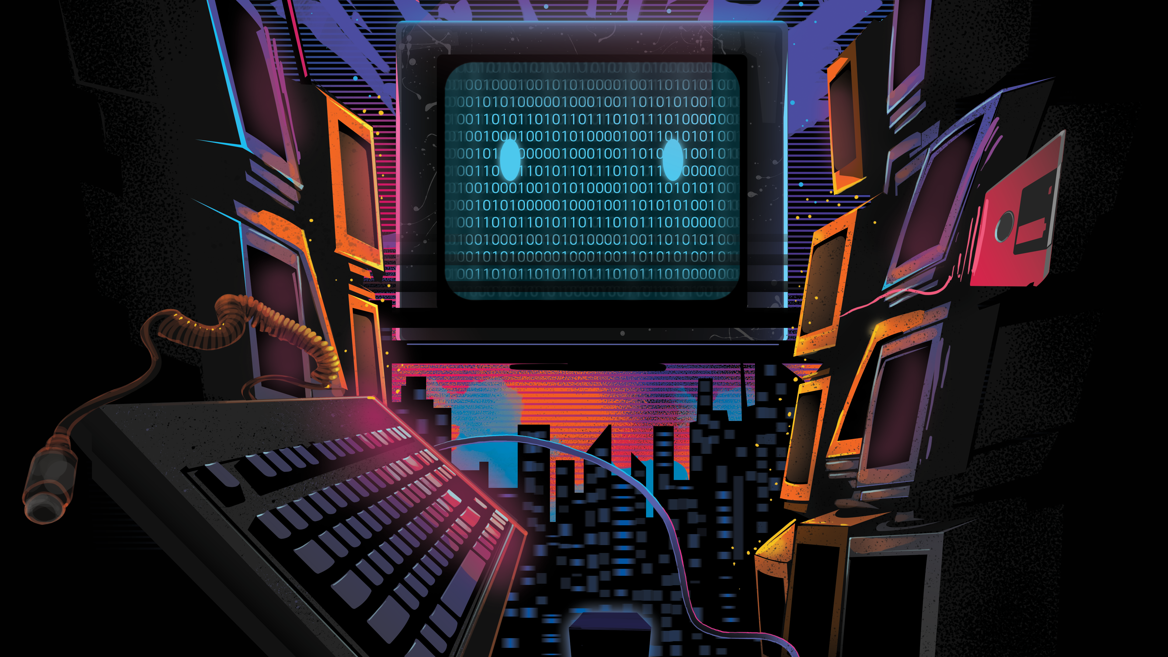 118 Retro Wave HD Wallpapers Background Images 3840x2160