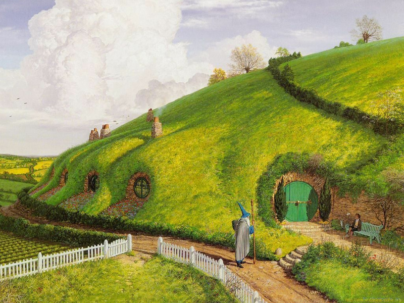 Bilbo At The Shire Entertainment Movies HD Desktop Wallpaper 800x600