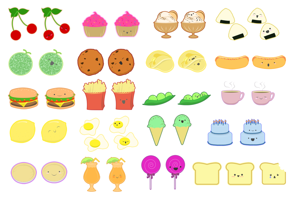 Cute animated food wallpaper the image kid has it - Stylish cooking ...