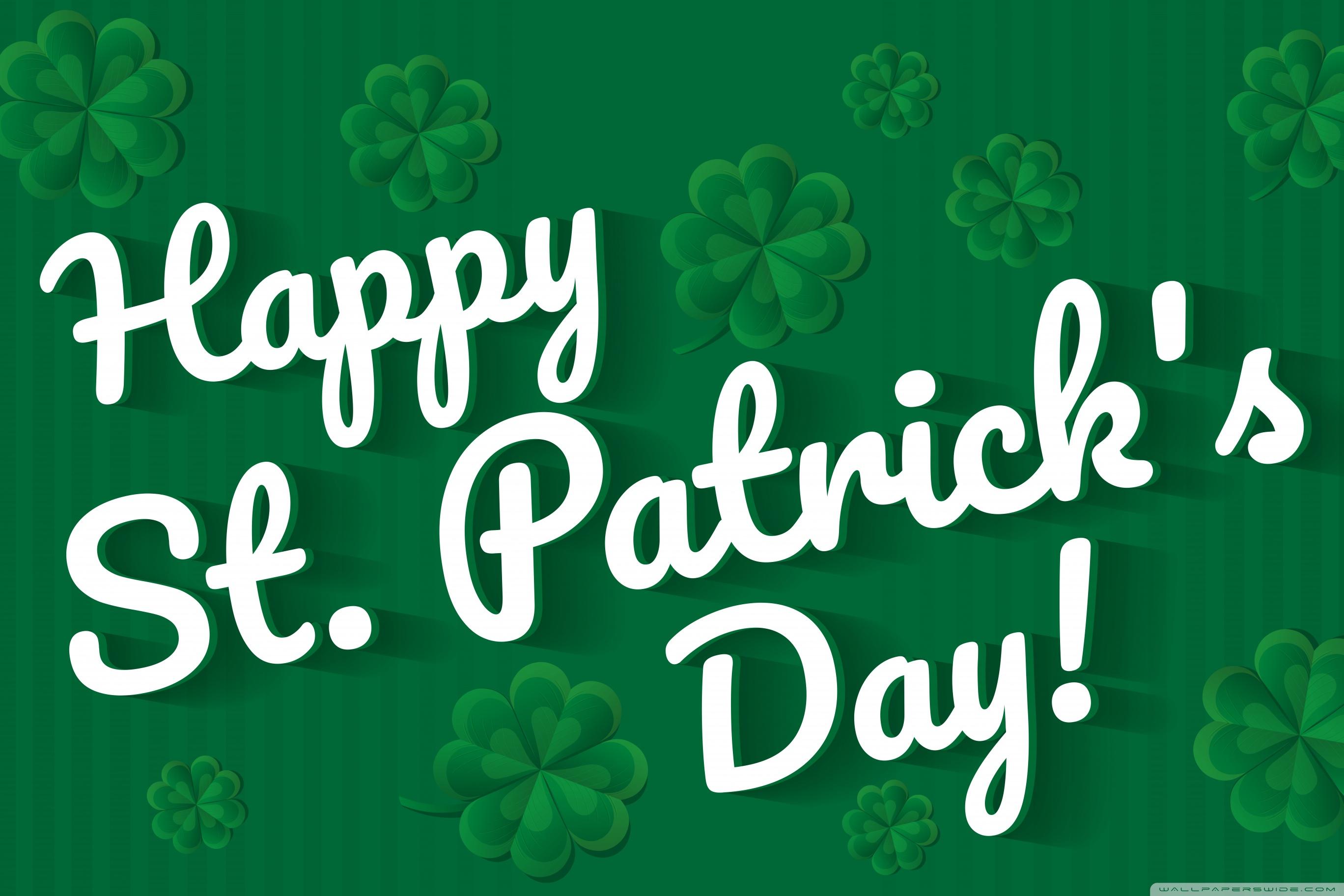 Happy Saint Patricks Day 2020 Ultra HD Desktop Background 2736x1824