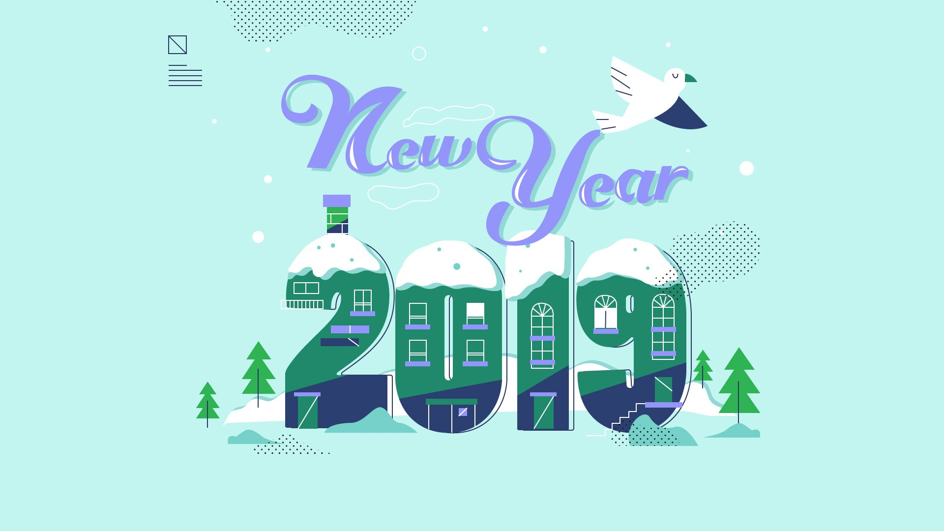 2019 New Year Winter Background HD Wallpaper HD Wallpapers 1920x1080