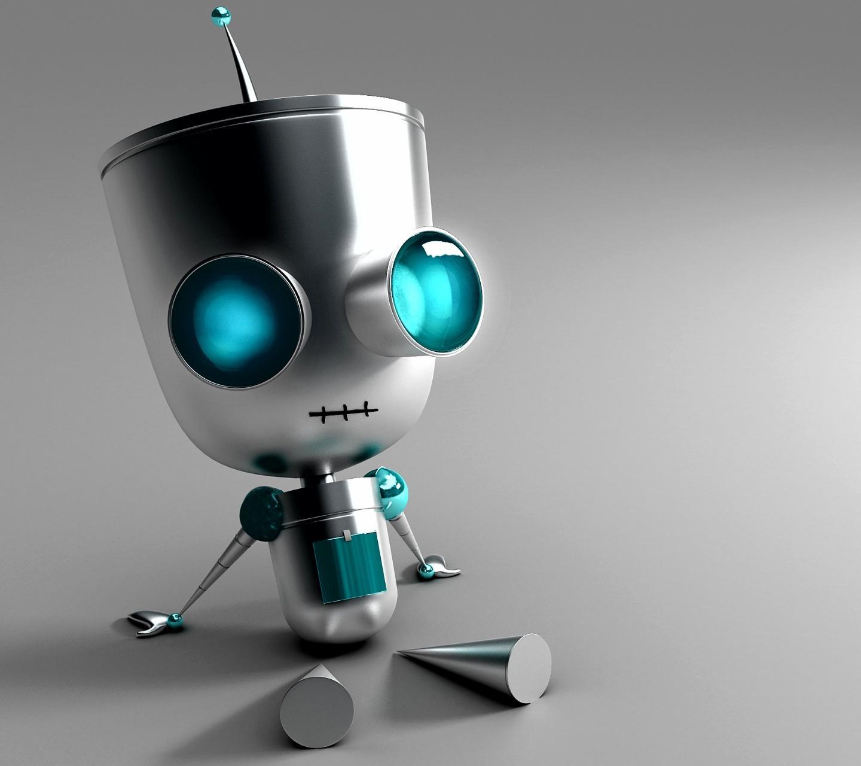 Cute robot wallpaper wallpapersafari - Robot wallpaper 3d ...
