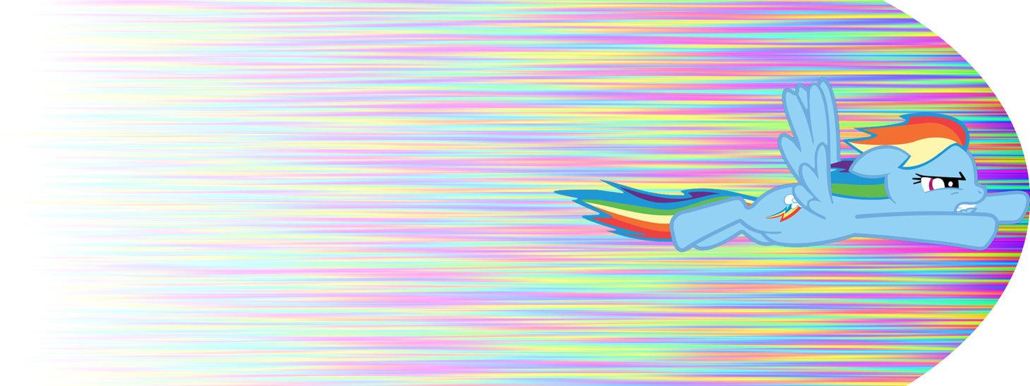 Rainbow Dash Duel Screen Wallpaper by lasarack on deviantART 1459x547