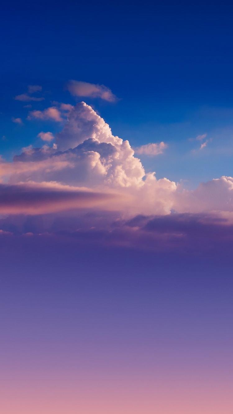Cloud Sky Gradient iPhone 6 Wallpaper / iPod Wallpaper HD - Free ...