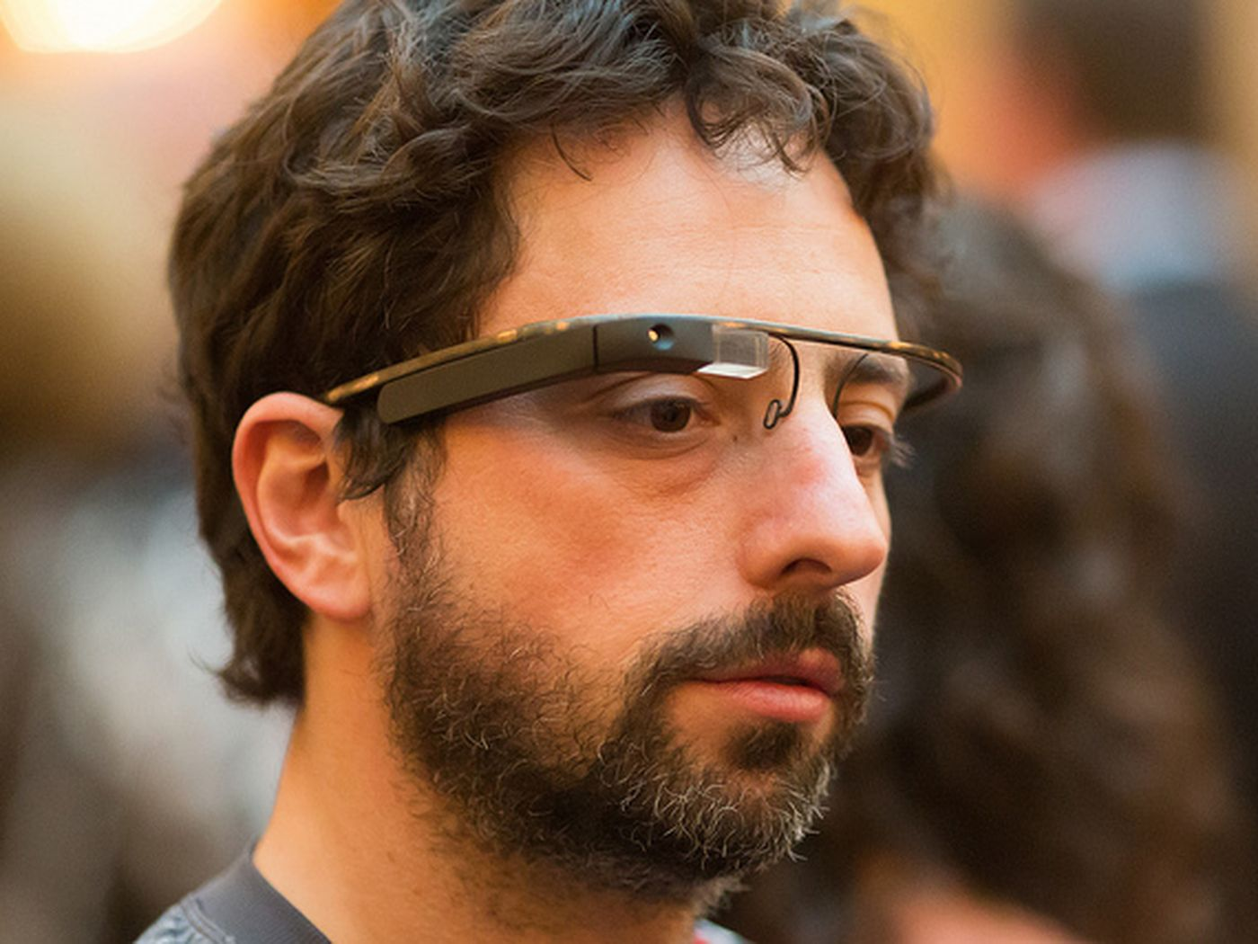 Google Project Glass modeled by Sergey Brin first high res photos 1400x1050