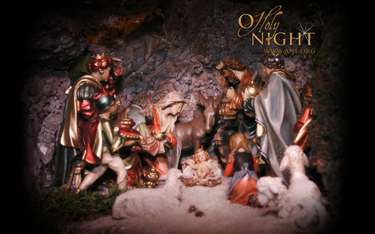 Group Of The Nativity Wallpaper Christmas