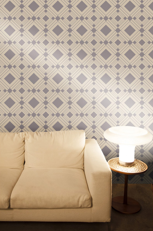 Diamond Taupe Removable Wallpaper by Tempaper   RosenberryRoomscom 531x800