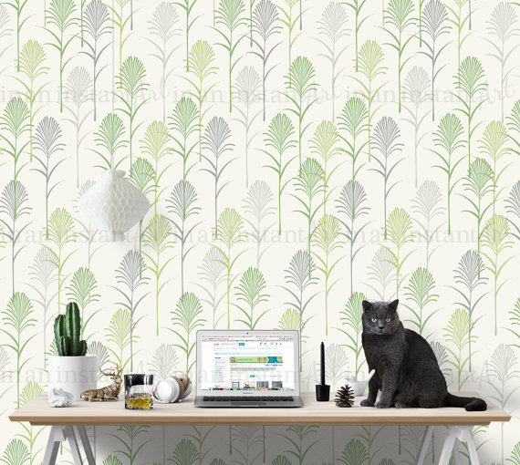 and Stick Wallpaper Palm Leaf Peel and Stick Wallpaper Removable 570x510