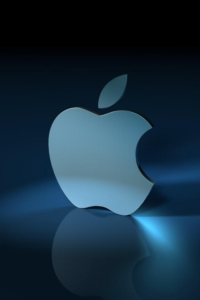 Apple Logo 3D iPhone 4 Wallpaper 640x960