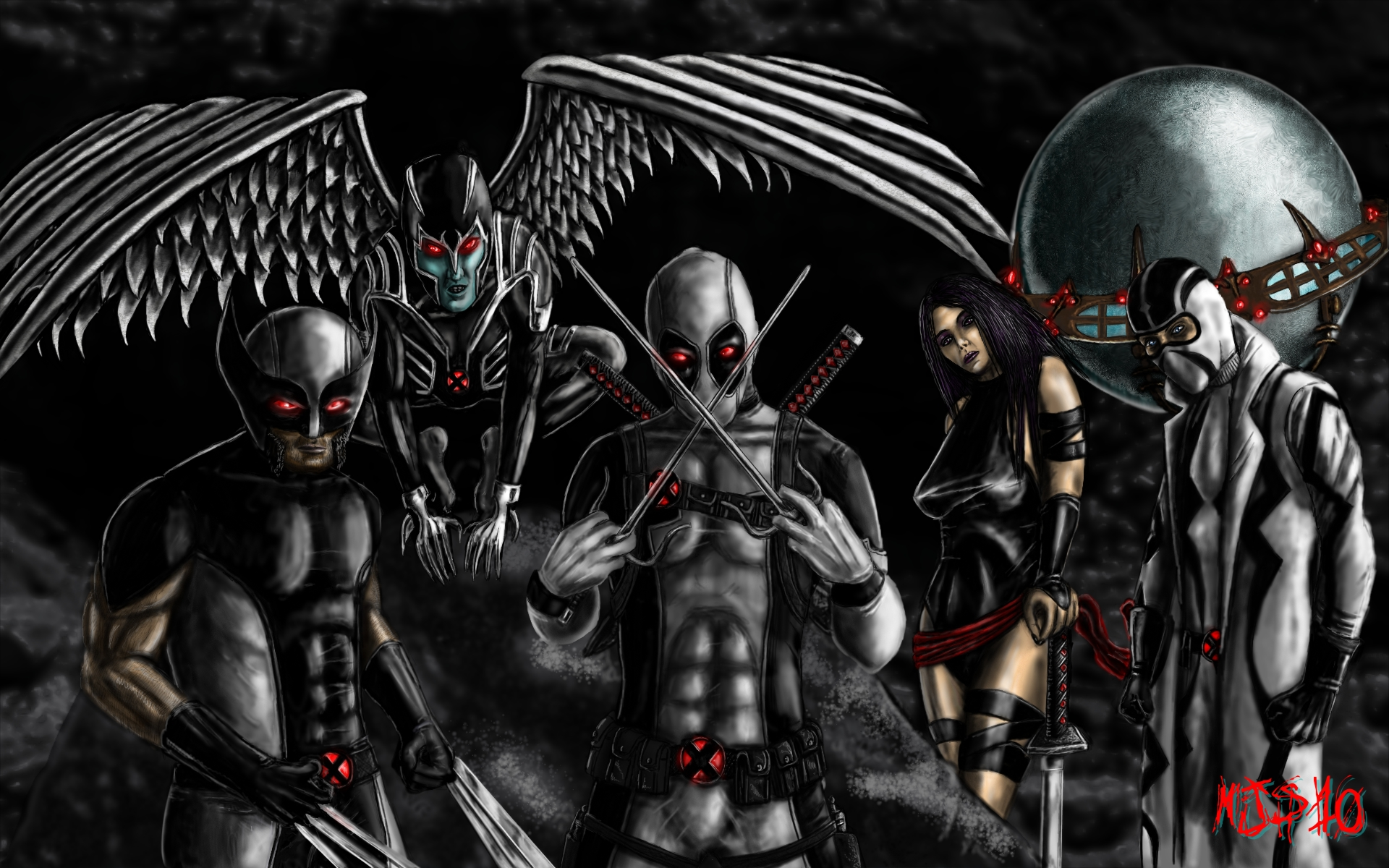 uncanny x force by scarecrowstudios 1920x1200