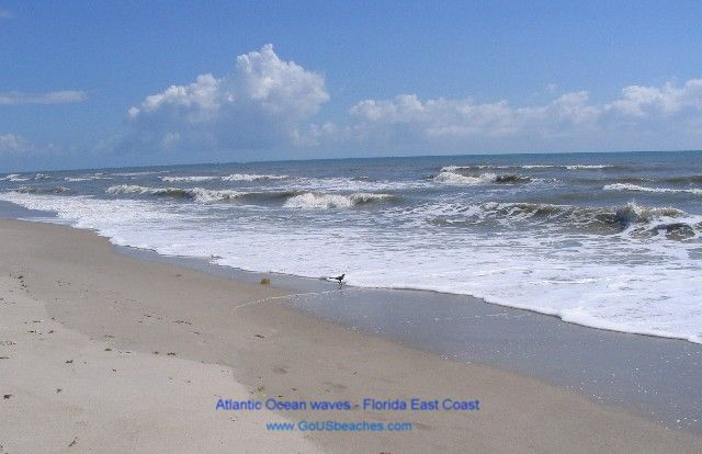 Coast Florida Beaches   Atlantic Ocean Waves   Satellite Beach FL 640x414