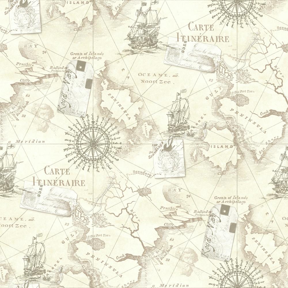 Arthouse Navigator Cartography Vintage Nautical Map Wallpaper 622003 1000x1000