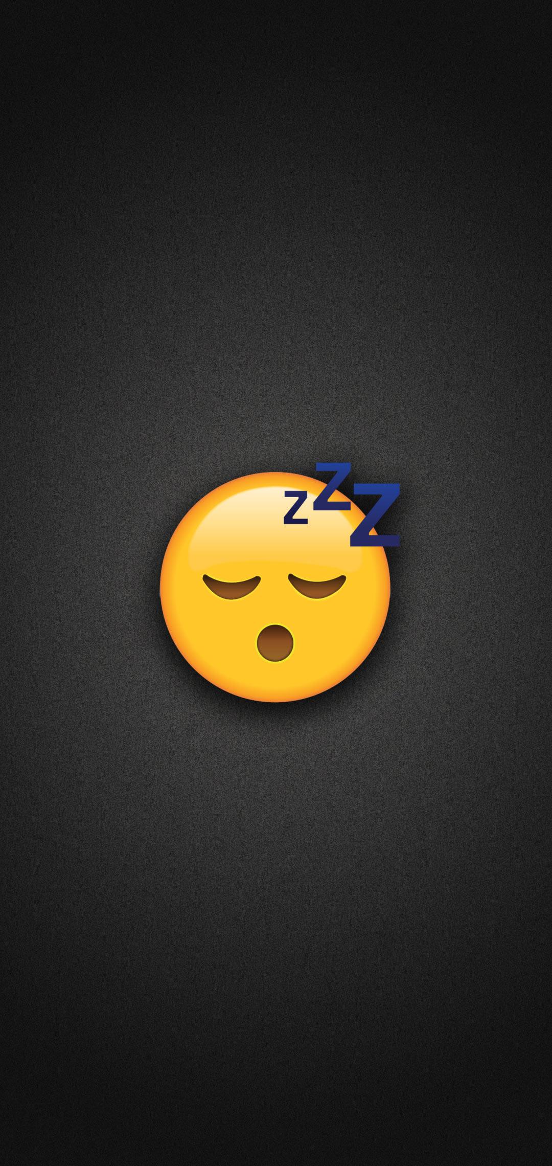 Sleeping Emoji Phone Wallpaper 1080x2280