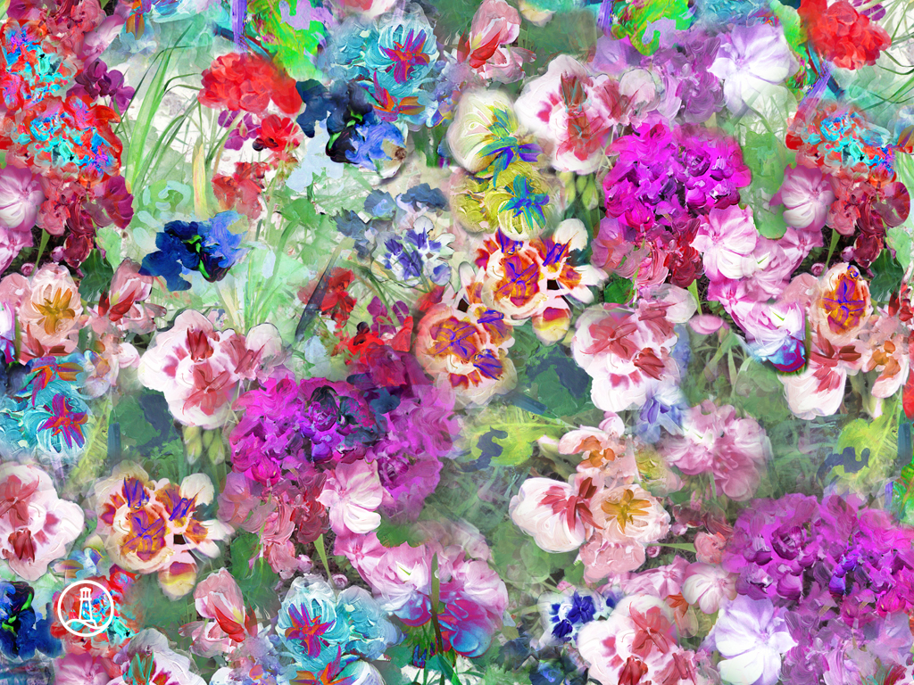 Floral Background Wallpapers WIN10 THEMES 1024x768