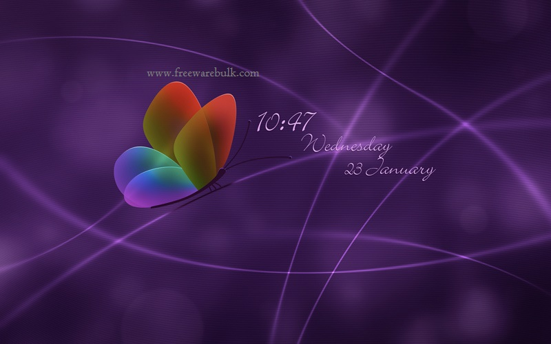 desktop clock wallpaper for windows 7 800x500