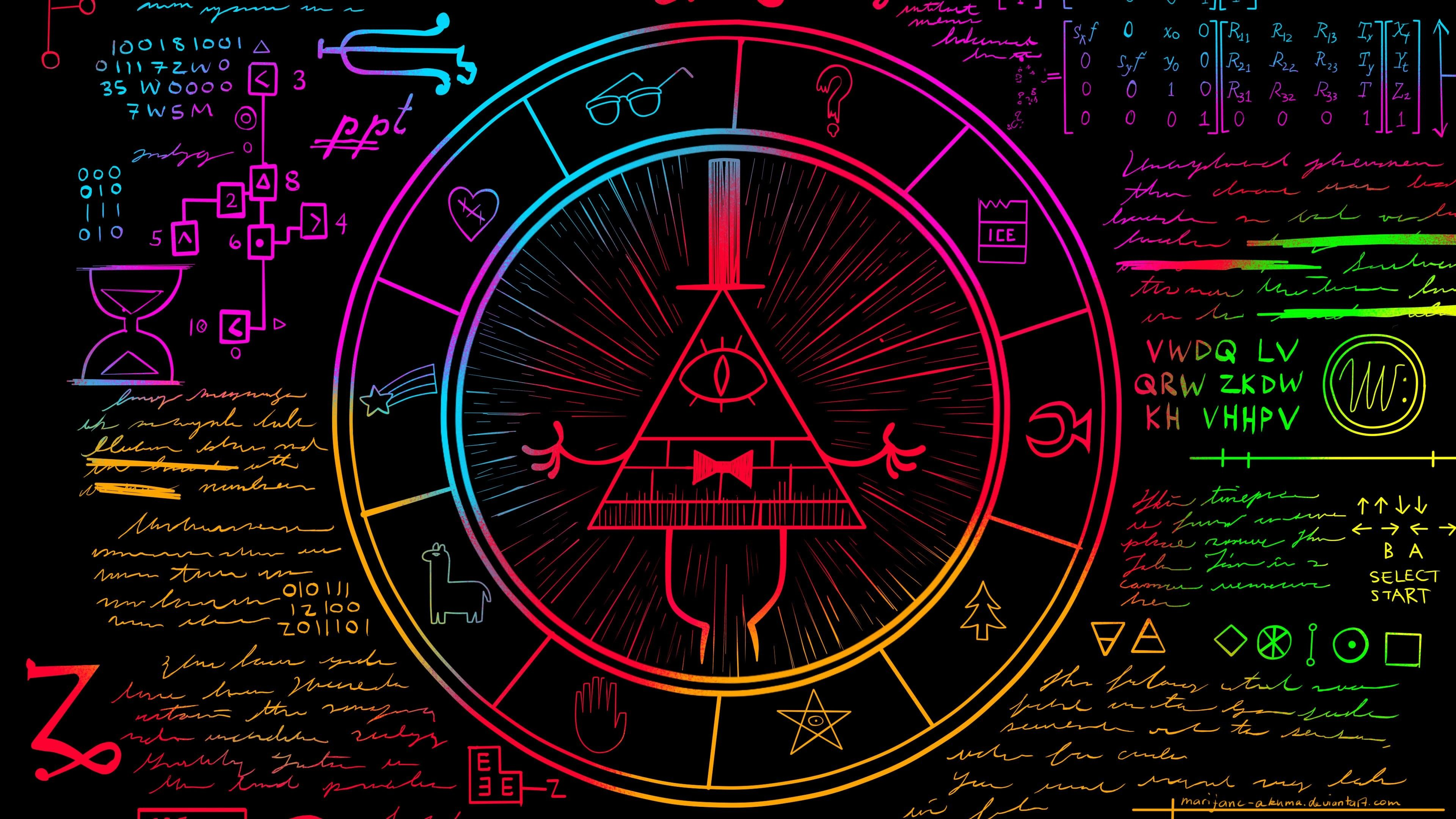3840x2160 Weirdmageddon Part One Gravity Falls Bill Ciphers 3840x2160