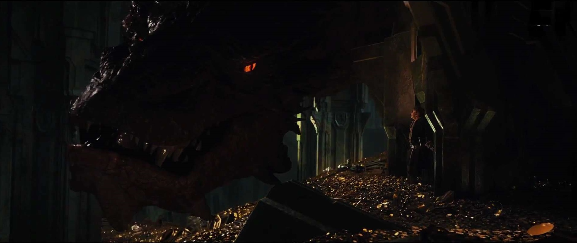 en hobbit desolation of smaug dragon 5254 hd widescreen wallpapers 1911x805