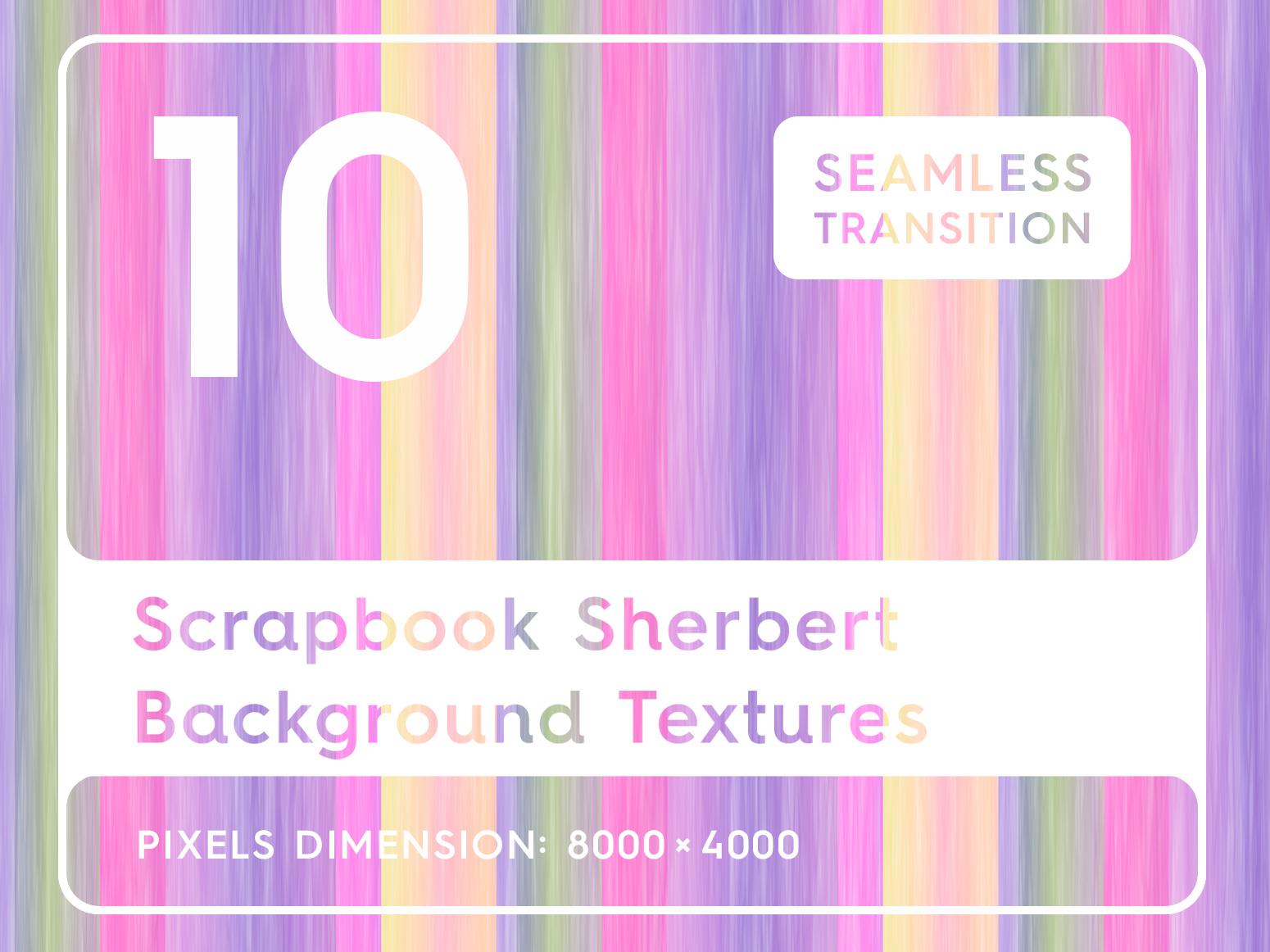 10 Scrapbook Sherbert Background Textures by Alexander Nedviga on 1550x1162