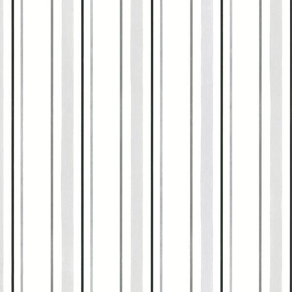 BW28751 Black White Silver Grey Pin Striped Wallpaper eBay 600x600