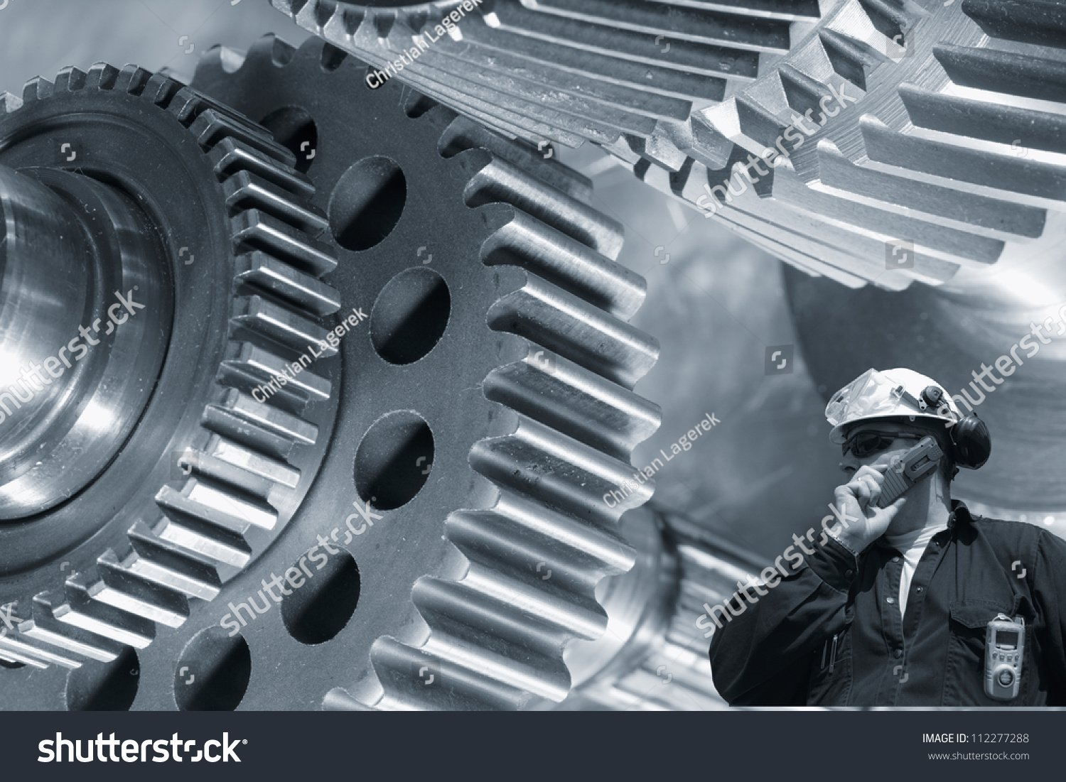 Machinist Worker Large Gears Cog Machinery Stock Photo Edit Now 1500x1101