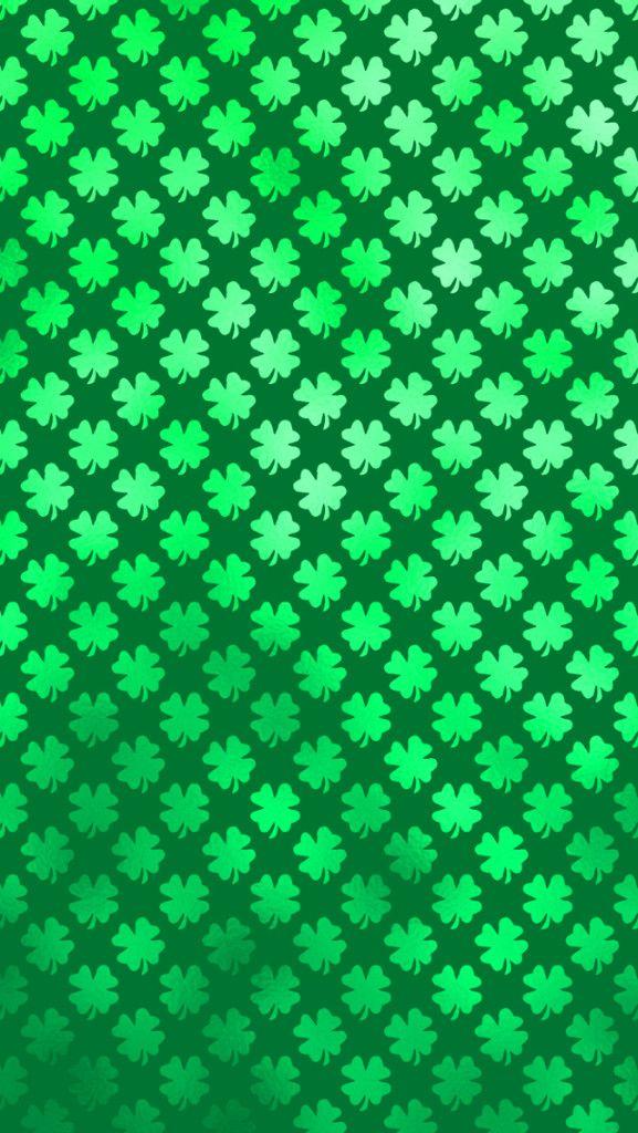 Shamrock Four Leaf Clover Saint Patricks Day iPhone Wallpaper 577x1024