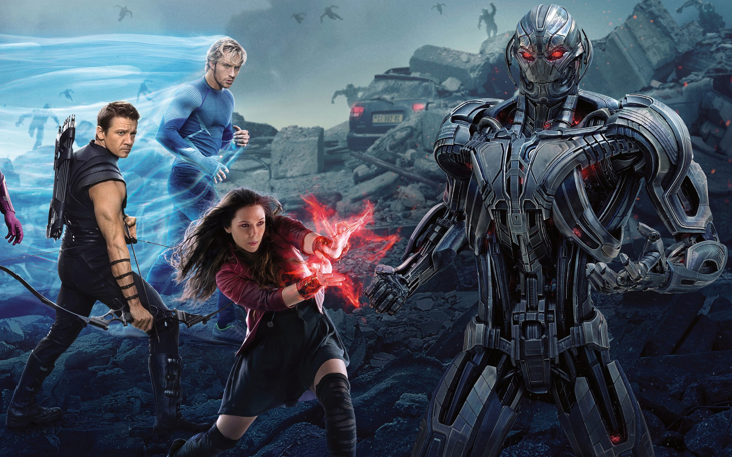 Scarlet Witch in Avengers Age of Ultron Widescreen and Full HD 2560x1600