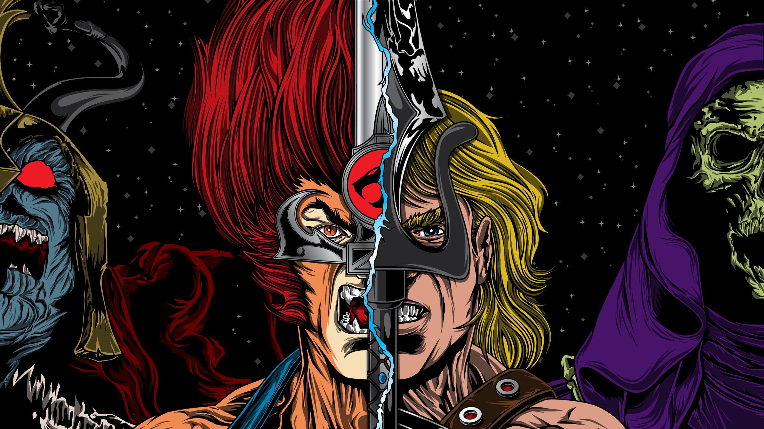 Histria Em Quadrinhos   Collage He Man Thundercats Papel de Parede 2560x1440