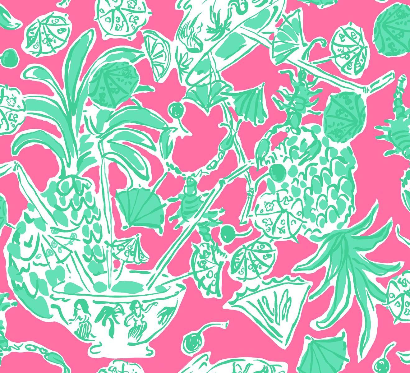 Forty Weeks Freebie Lilly Pulitzer Wallpaper Prints 1319x1200