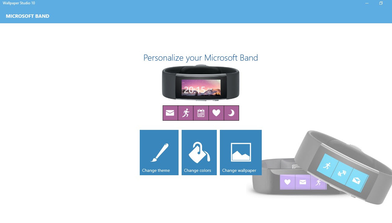 Wallpaper Studio 10 Offers Microsoft Band 2 Screen Support 1282x728