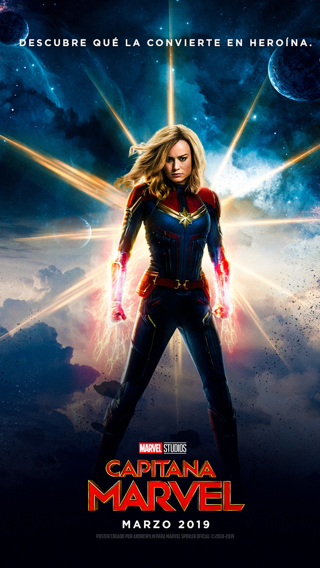 download Captain Marvel Android Wallpaper 2019 Movie Poster 1080x1920