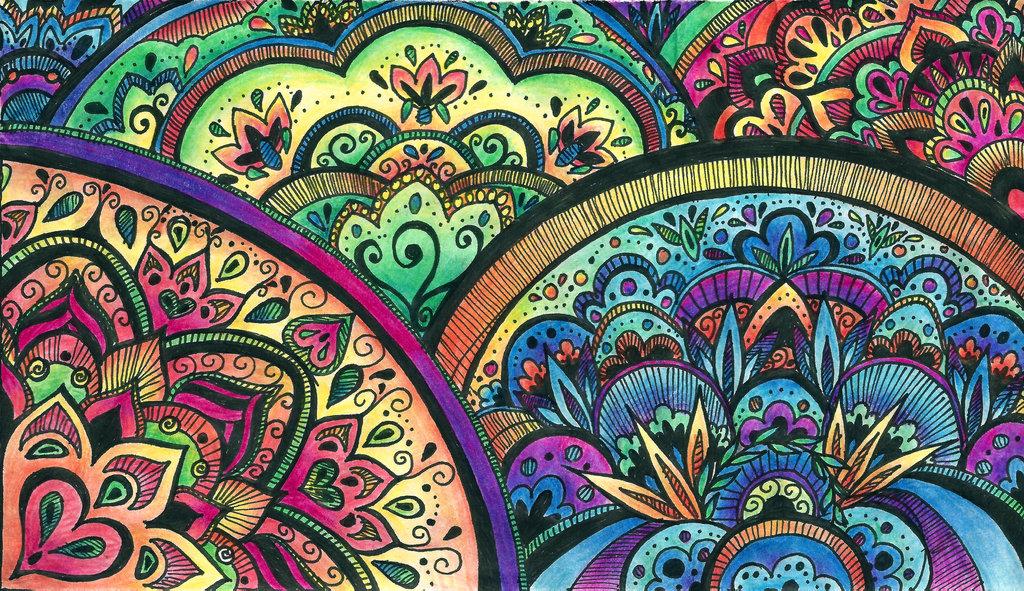 DeviantArt More Collections Like Color Mandala Detail by ballofplasma 1024x591