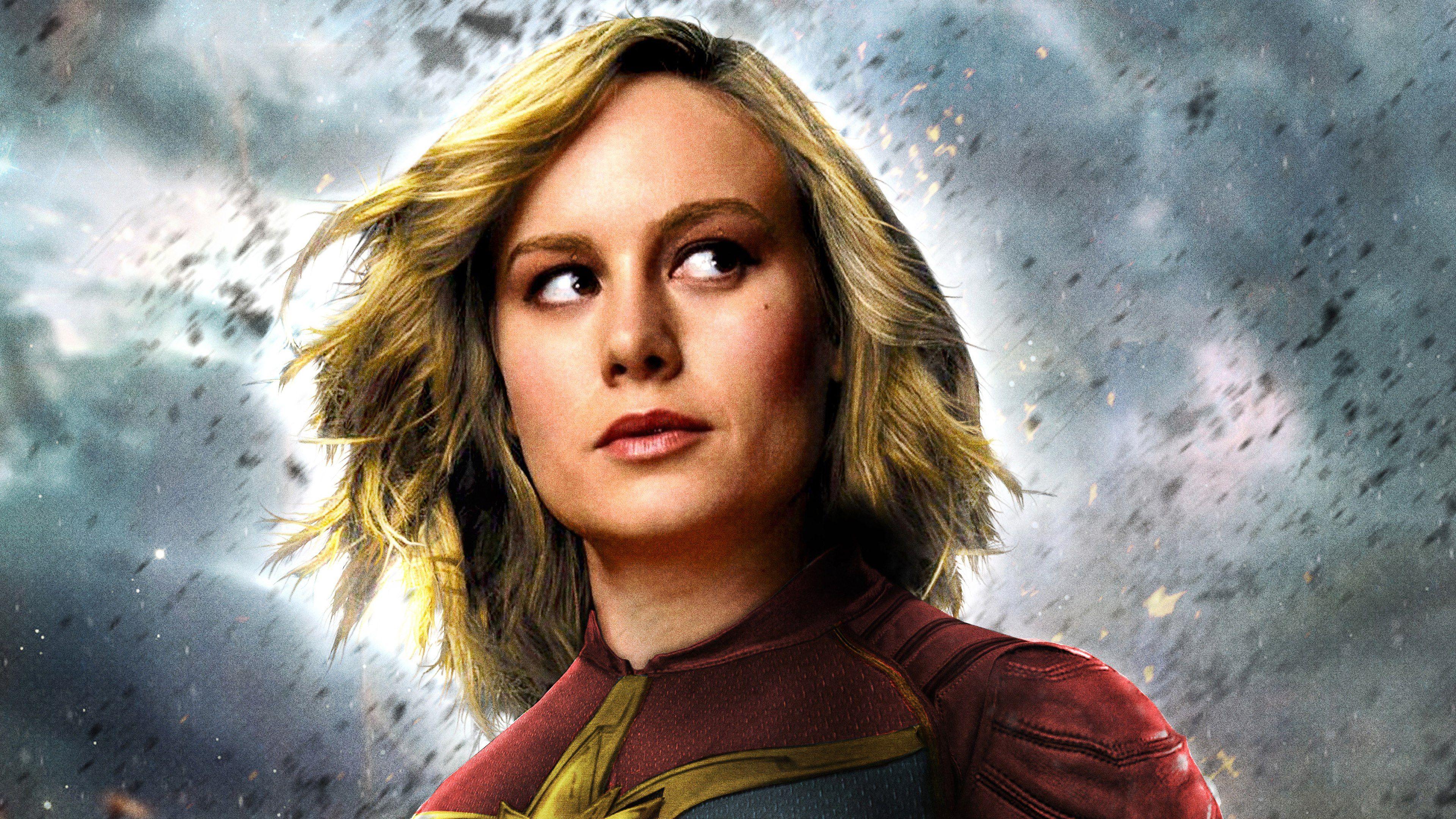 Captain Marvel Movie 2019 Brie Larson as Carol Danvers 4K 3840x2160