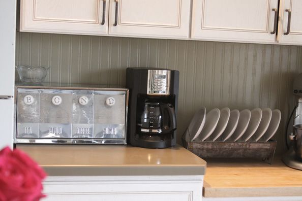 Kitchen Backsplash Using Beadboard Wallpaper  Transform Your Home On A 594x396