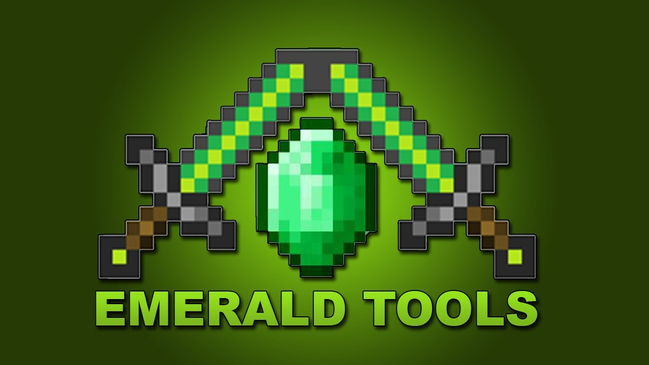 Minecraft MOD 152 Emerald Tools 1280x720