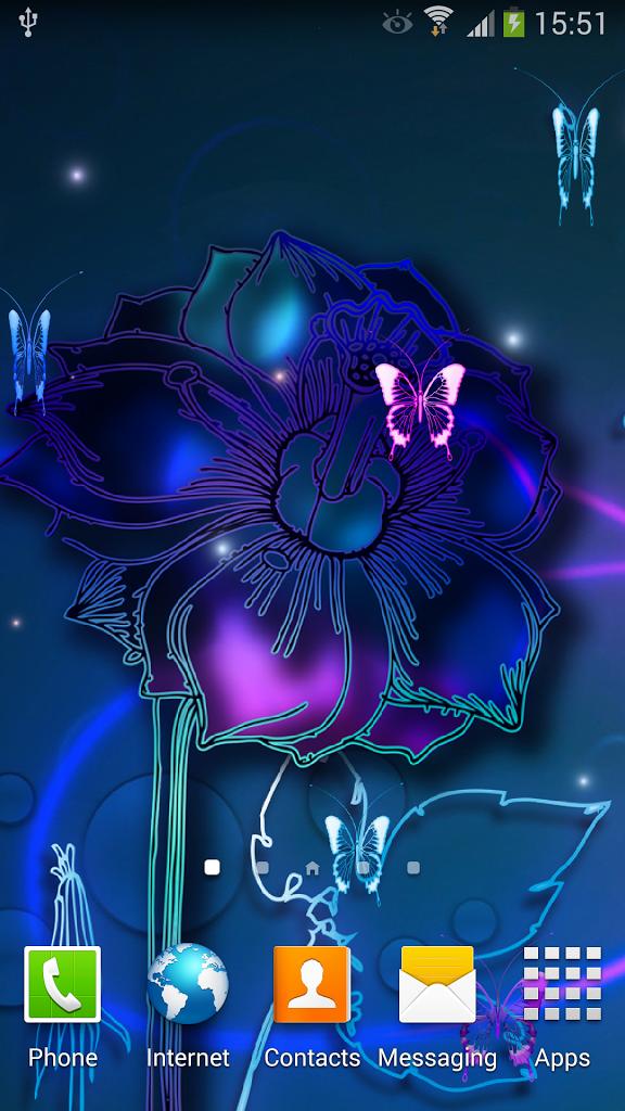 Neon Butterfly Live Wallpaper 101 screenshot 0 576x1024