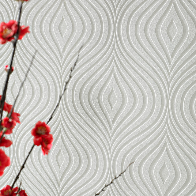 Curvy Paintable Wallpaper Contemporary By Graham 640x640