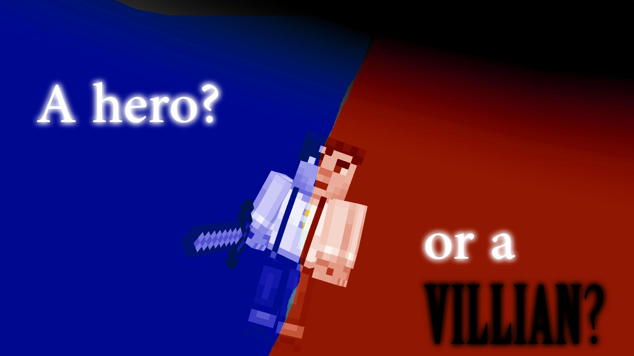 Minecraft Story Mode Wallpaper A Hero or a VILLIAN 2048x1152