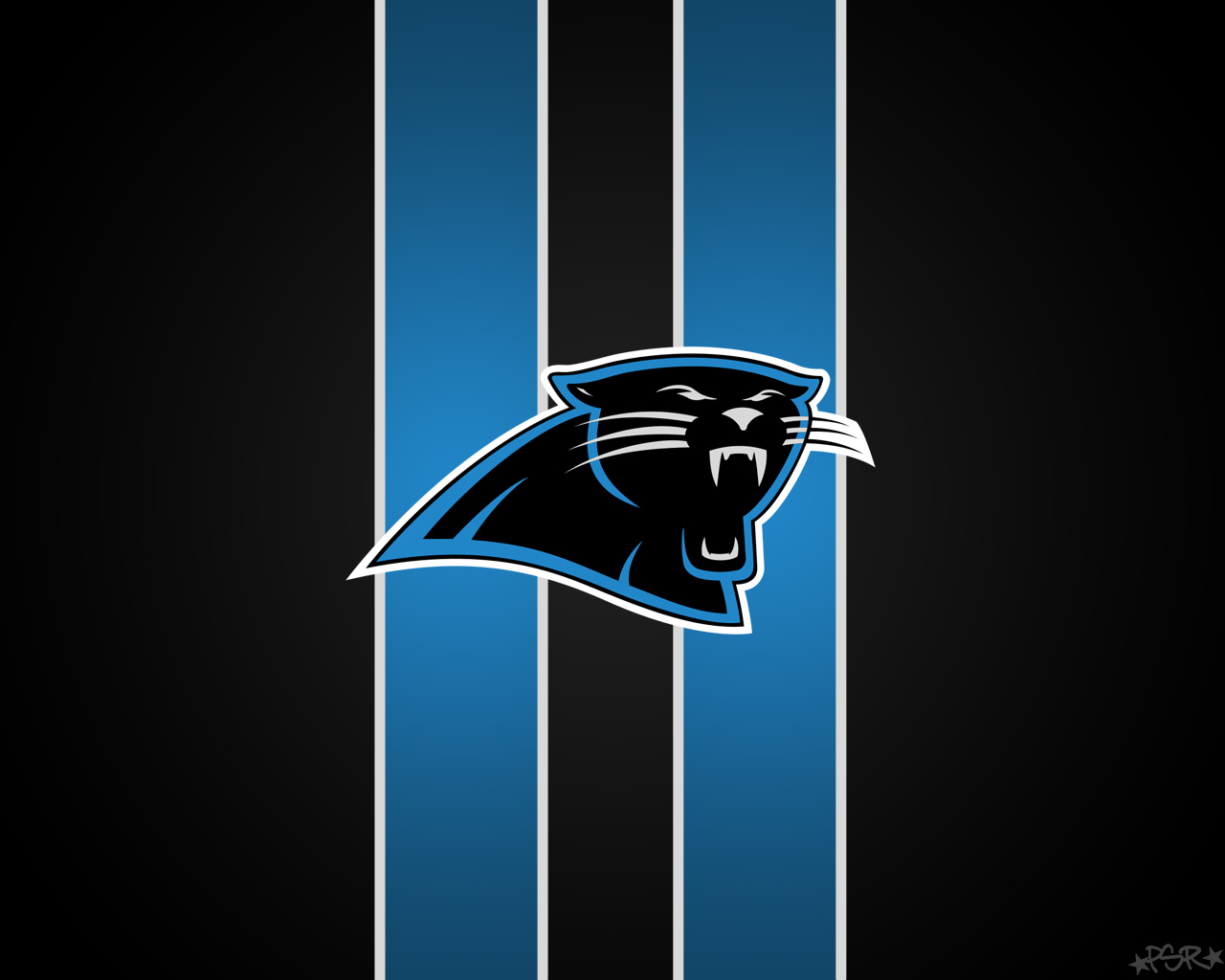 Panthers Logo with Stripes on Black Background by pasar3 1280 x 1280x1024