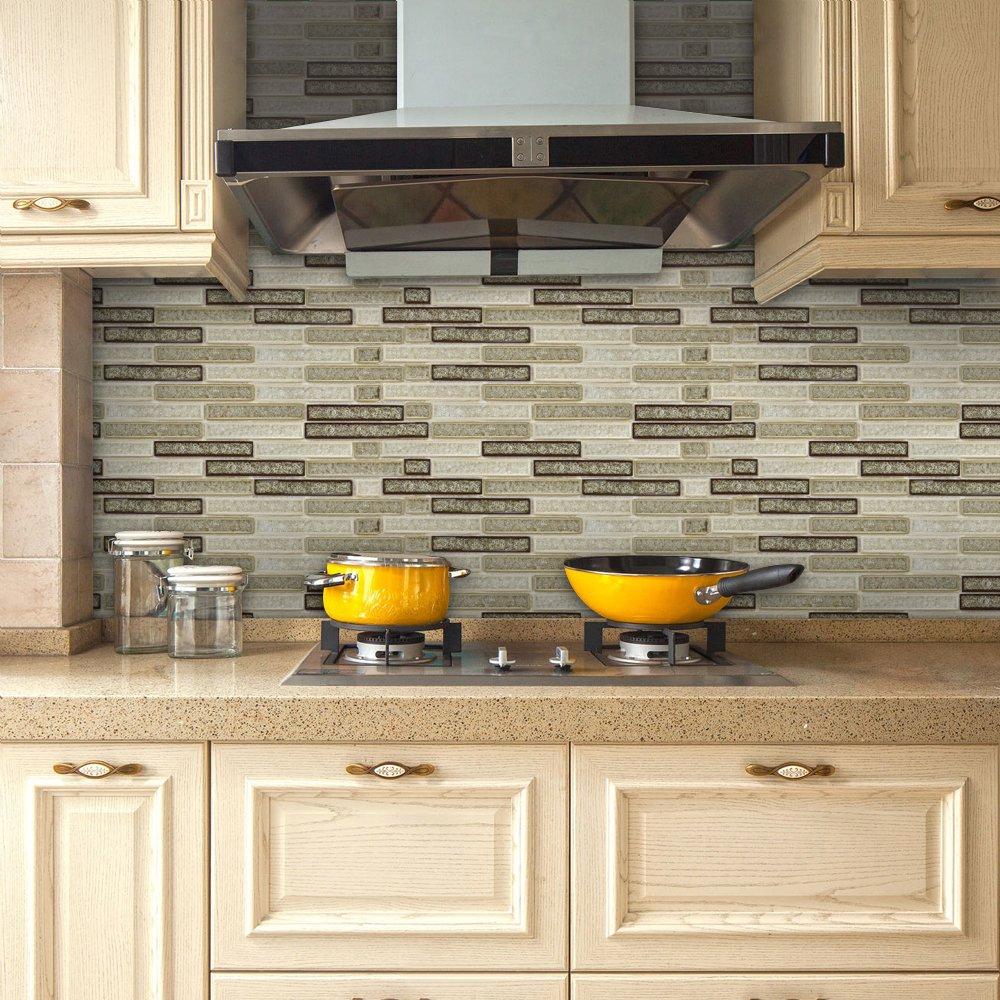 Amazoncom VANCORE 3D Mosaic Sticker Home Decor Backsplash 1000x1000