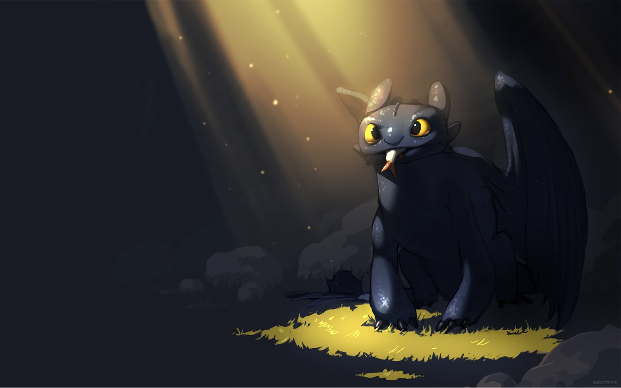 Night Fury Wallpaper 1280x800 Night Fury Toothless How To Train 1280x800