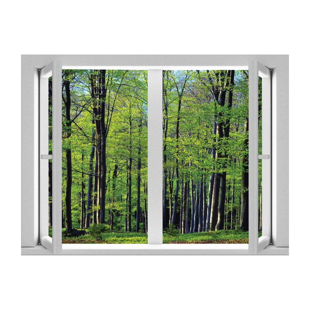 Light Trees Peel and Stick Removable Wall Decal Mural Lowes Canada 1000x1000