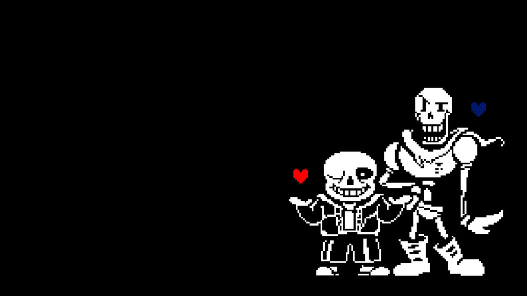 Undertale] Sans and Papyrus Wallpaper by Biscuit Rampage on 1024x576