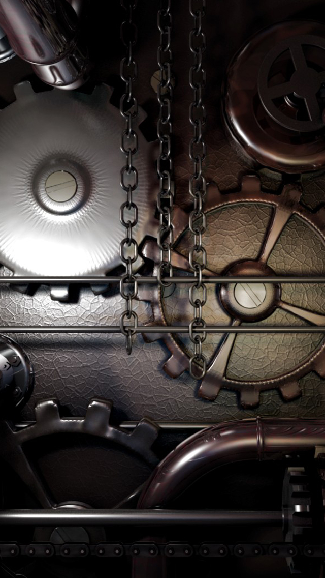 machine steampunk iPhone 5s Wallpaper Download iPhone Wallpapers 640x1136