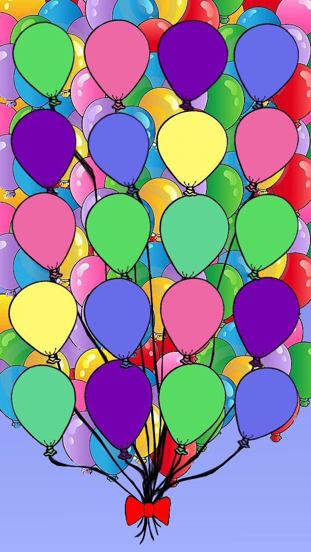 Very Colorful iPhone 5 Wallpaper BALLOONS Pinterest 640x1136